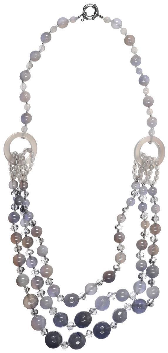 Бусы Art-Silver, цвет: серый. СМЦ14-5-1208
