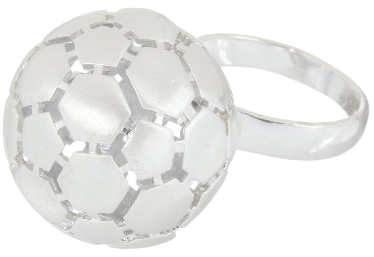 Кольцо Art-Silver, цвет: серебристый. 066315-604-528. Размер 19066315-604-528Стильное кольцо Art-Silver изготовлено из бижутерного сплава. Декоративный элемент кольца выполнен в виде футбольного мяча. Стильное кольцо придаст вашему образу изюминку и подчеркнет индивидуальность.