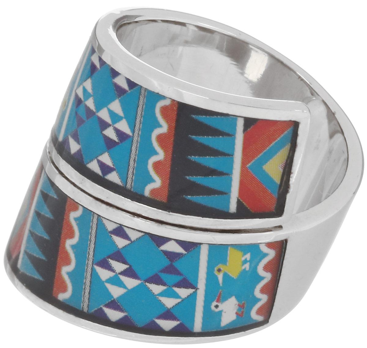 Кольцо Art-Silver, цвет: серебристый, голубой, мультиколор. ФК136-1-320. Размер 17,5ФК136-1-320Стильное кольцо спиралевидной формы от Art-Silver изготовлено из бижутерного сплава. Изделие оформлено оригинальным орнаментом и покрыто эмалью. Стильное кольцо придаст вашему образу изюминку и подчеркнет индивидуальность.