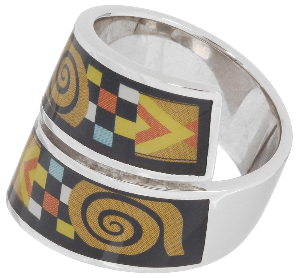 Кольцо Art-Silver, цвет: серебристый, мультиколор. ФК128-1-320. Размер 19ФК128-1-320Стильное кольцо спиралевидной формы от Art-Silver изготовлено из бижутерного сплава. Изделие оформлено оригинальным орнаментом и покрыто эмалью. Стильное кольцо придаст вашему образу изюминку и подчеркнет индивидуальность.