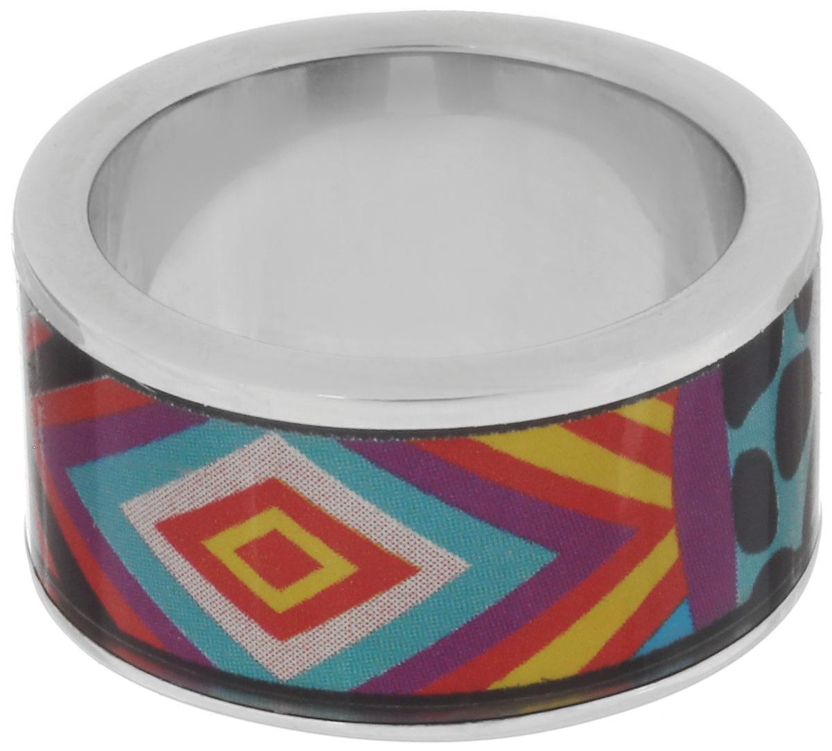 Кольцо Art-Silver, цвет: серебристый, мультиколор. ФК100-1-320. Размер 17,5ФК100-1-320Великолепное кольцо Art-Silver изготовлено из бижутерного сплава. Изделие с покрытием из эмали оформлено разнообразным неповторимым орнаментом. Стильное кольцо придаст вашему образу изюминку и подчеркнет индивидуальность.