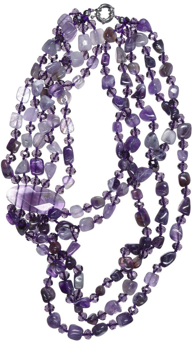 Бусы Art-Silver, цвет: фиолетовый. СМЦ64-7-956