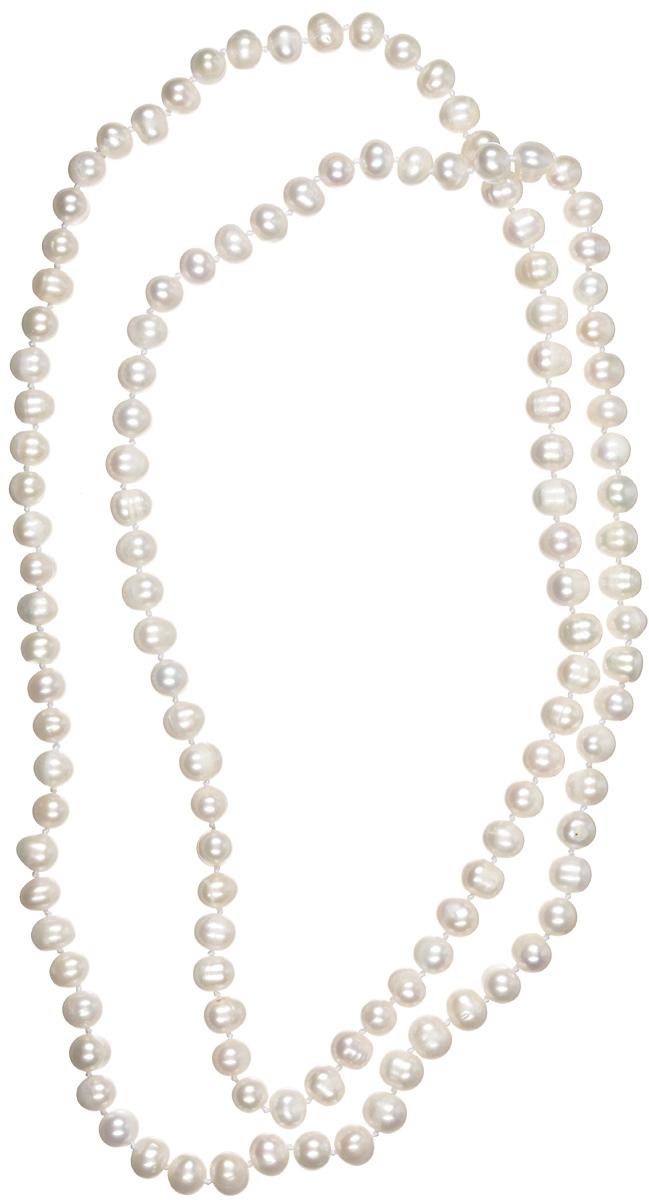 Бусы Art-Silver, цвет: белый. КЖб9-10А 120-1246КЖб9-10А 120-1246Стильные бусы Art-Silver из культивированного жемчуга не оставят равнодушной ни одну любительницу изысканных и необычных украшений. Бусы представляют собой основу из прочной нити, на которую нанизаны бусины жемчуга белого цвета. Украшение имеет удобную длину, что позволяет носить изделие как в одну, так и в две нити. Такие бусы позволят вам с легкостью воплотить самую смелую фантазию и создать собственный неповторимый образ.