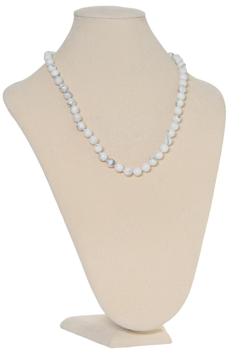 Бусы Art-Silver, цвет: белый, серый. КХс 8-50-267