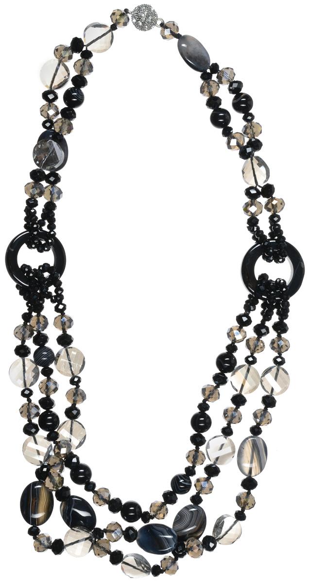 Бусы Art-Silver, цвет: черный. СМЦ70-5-1132