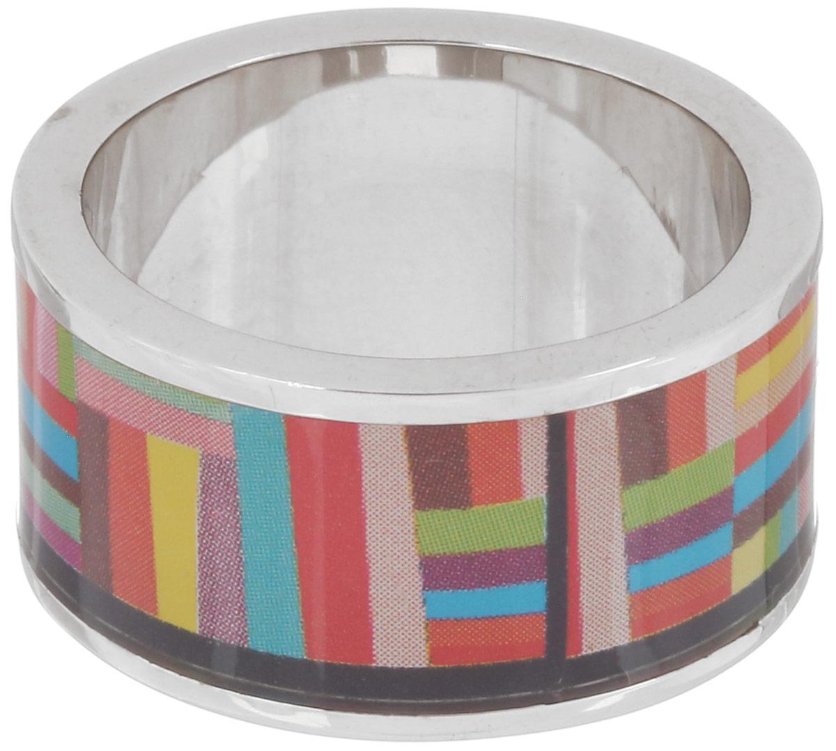 Кольцо Art-Silver, цвет: серебристый, мультиколор. ФК113-1-320. Размер 17,5ФК113-1-320Великолепное кольцо Art-Silver изготовлено из бижутерного сплава. Изделие с покрытием из эмали оформлено оригинальным геометрическим орнаментом. Стильное кольцо придаст вашему образу изюминку и подчеркнет индивидуальность.