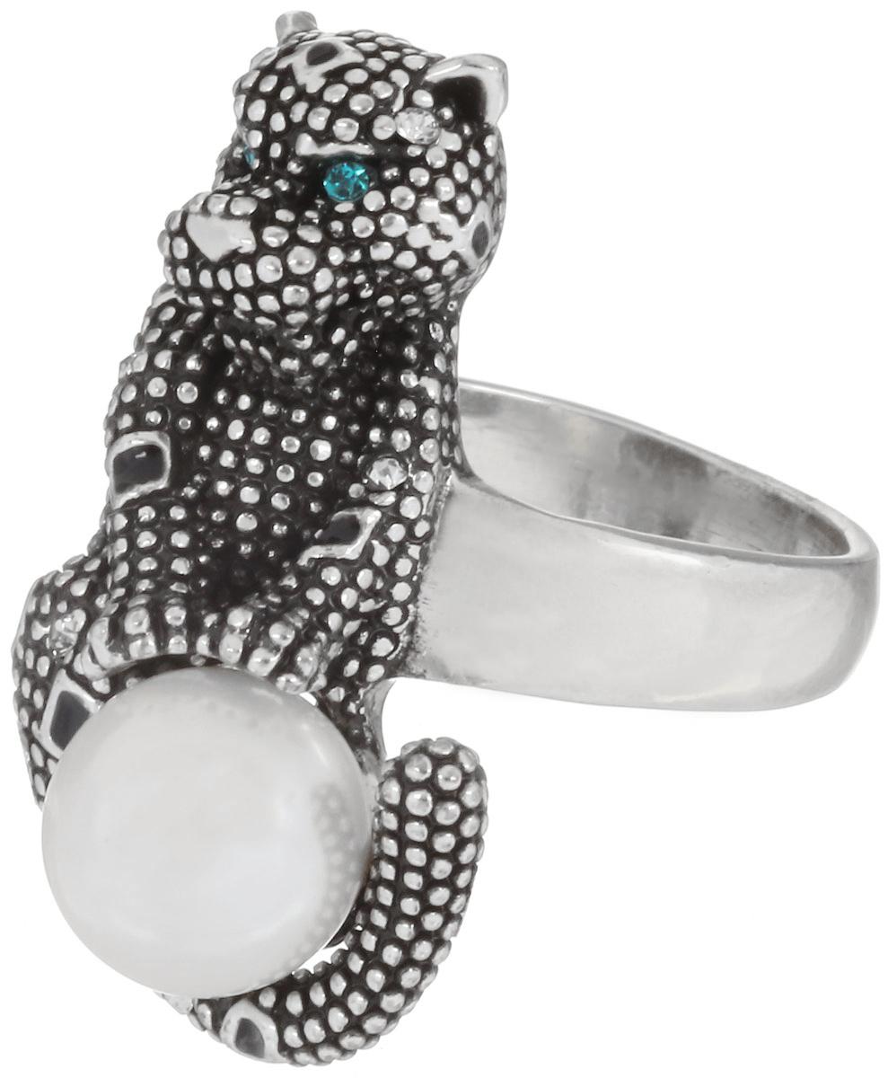 Кольцо Art-Silver, цвет: серебристый. 066700-950. Размер 16,5066700-950Стильное кольцо Art-Silver изготовлено из бижутерного сплава. Декоративный элемент кольца, выполненный в виде леопарда, дополнен искусственным жемчугом Майорика и цирконами. Стильное кольцо придаст вашему образу изюминку и подчеркнет индивидуальность.