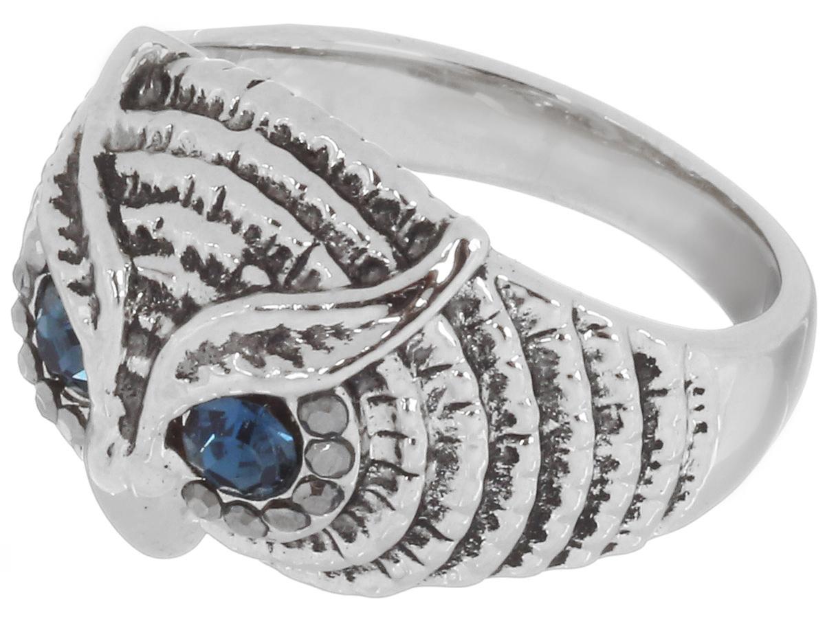 Кольцо Art-Silver, цвет: серебристый. 01315-607. Размер 1701315-607Великолепное кольцо Art-Silver изготовлено из бижутерного сплава. Декоративная часть кольца выполнена в виде головы совы. Изделие украшено цирконами. Стильное кольцо придаст вашему образу изюминку и подчеркнет индивидуальность.