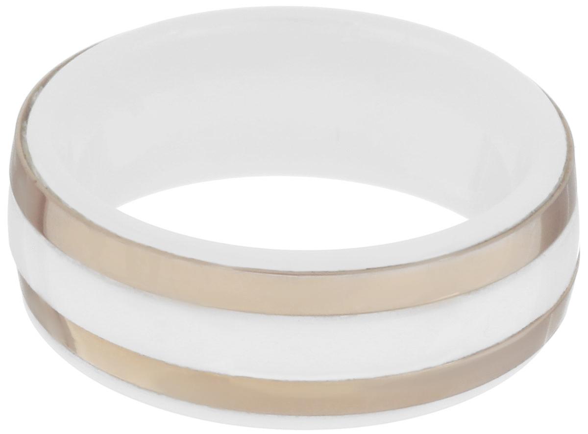 Кольцо Art-Silver, цвет: белый, золотистый. STSZ21-675. Размер 18STSZ21-675Стильное кольцо Art-Silver, изготовленное из стали и керамики, оформлено двумя полосками. Полоски покрыты золотом 0,1 мкрн. Такое кольцо придаст вашему образу изюминку и подчеркнет индивидуальность.