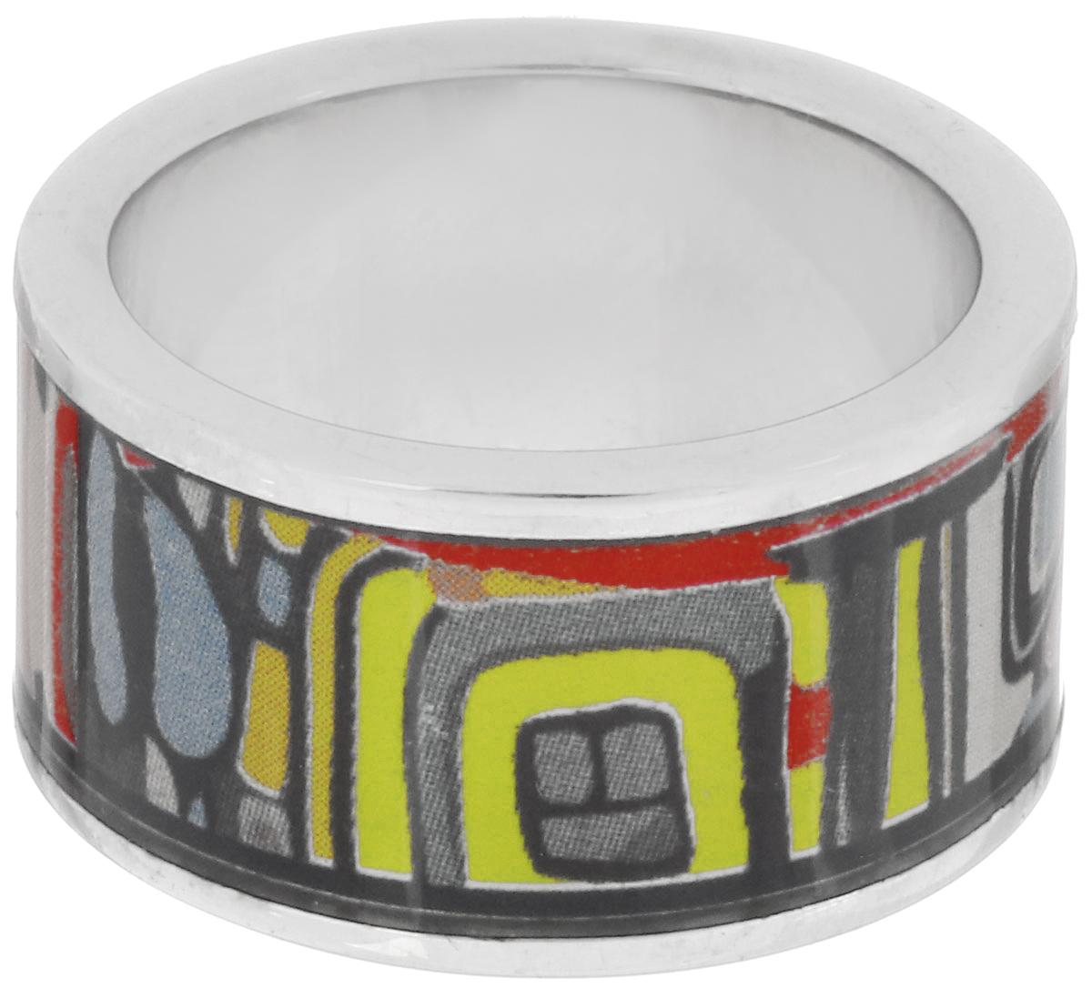 Кольцо Art-Silver, цвет: серебристый, мультиколор. ФК114-1-320. Размер 16,5ФК114-1-320Великолепное кольцо Art-Silver изготовлено из бижутерного сплава. Изделие с покрытием из эмали оформлено оригинальным орнаментом. Стильное кольцо придаст вашему образу изюминку и подчеркнет индивидуальность.