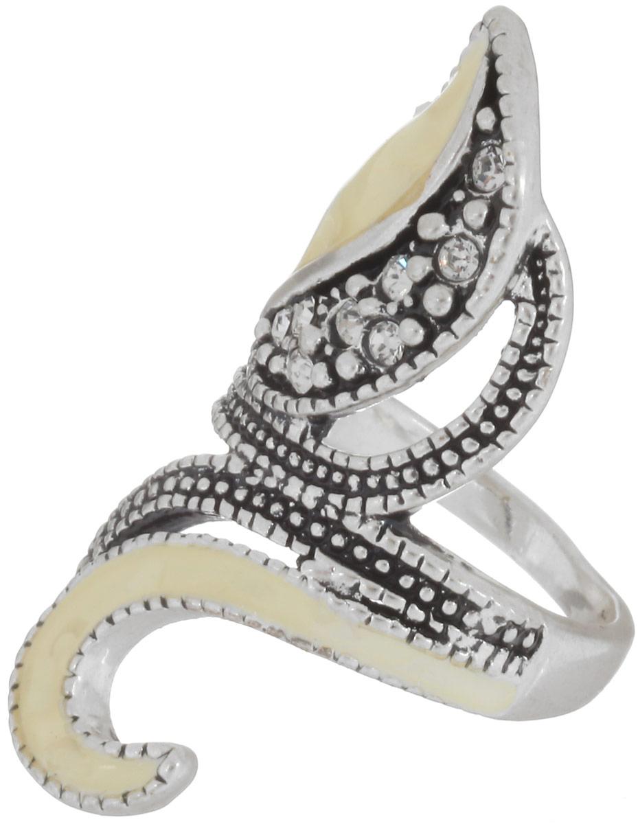 Кольцо Fashion House, цвет: серебристый. FH30431. Размер 19FH30431Стильное кольцо Fashion House изготовлено из металла. Изделие оформлено стразами и вставками из эмали. Стильное кольцо придаст вашему образу изюминку и подчеркнет индивидуальность.
