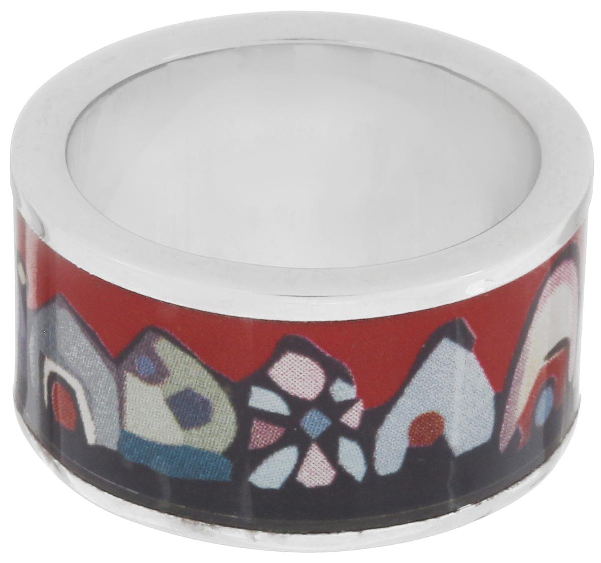 Кольцо Art-Silver, цвет: серебристый, красный, мультиколор. ФК107-1-320. Размер 17,5ФК107-1-320Великолепное кольцо Art-Silver изготовлено из бижутерного сплава. Изделие с покрытием из эмали оформлено изображением забавных домиков. Стильное кольцо придаст вашему образу изюминку и подчеркнет индивидуальность.