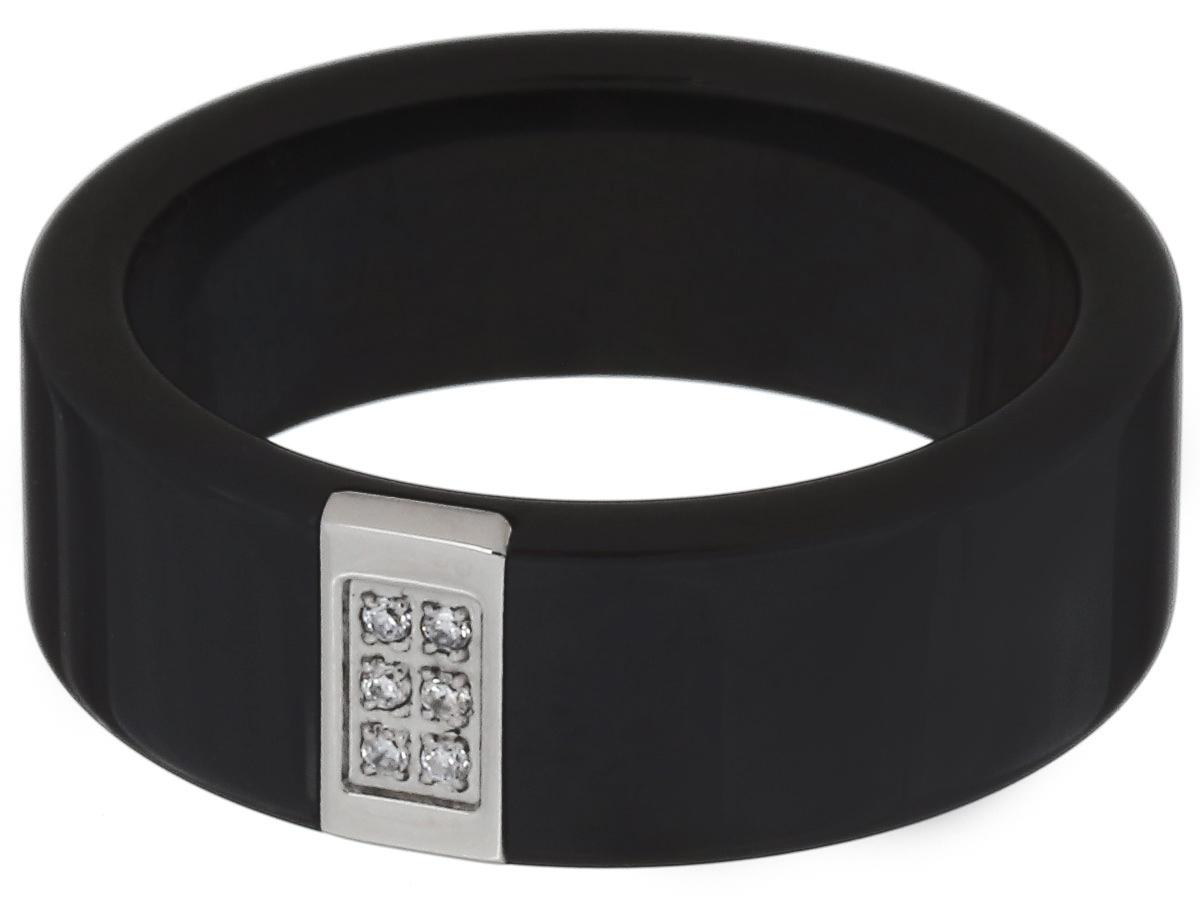 Кольцо Art-Silver, цвет: антрацитовый. КЧ1102-674. Размер 18,5КЧ1102-674Стильное кольцо Art-Silver изготовлено из керамики. Изделие оформлено цирконами. Стильное кольцо придаст вашему образу изюминку и подчеркнет индивидуальность.