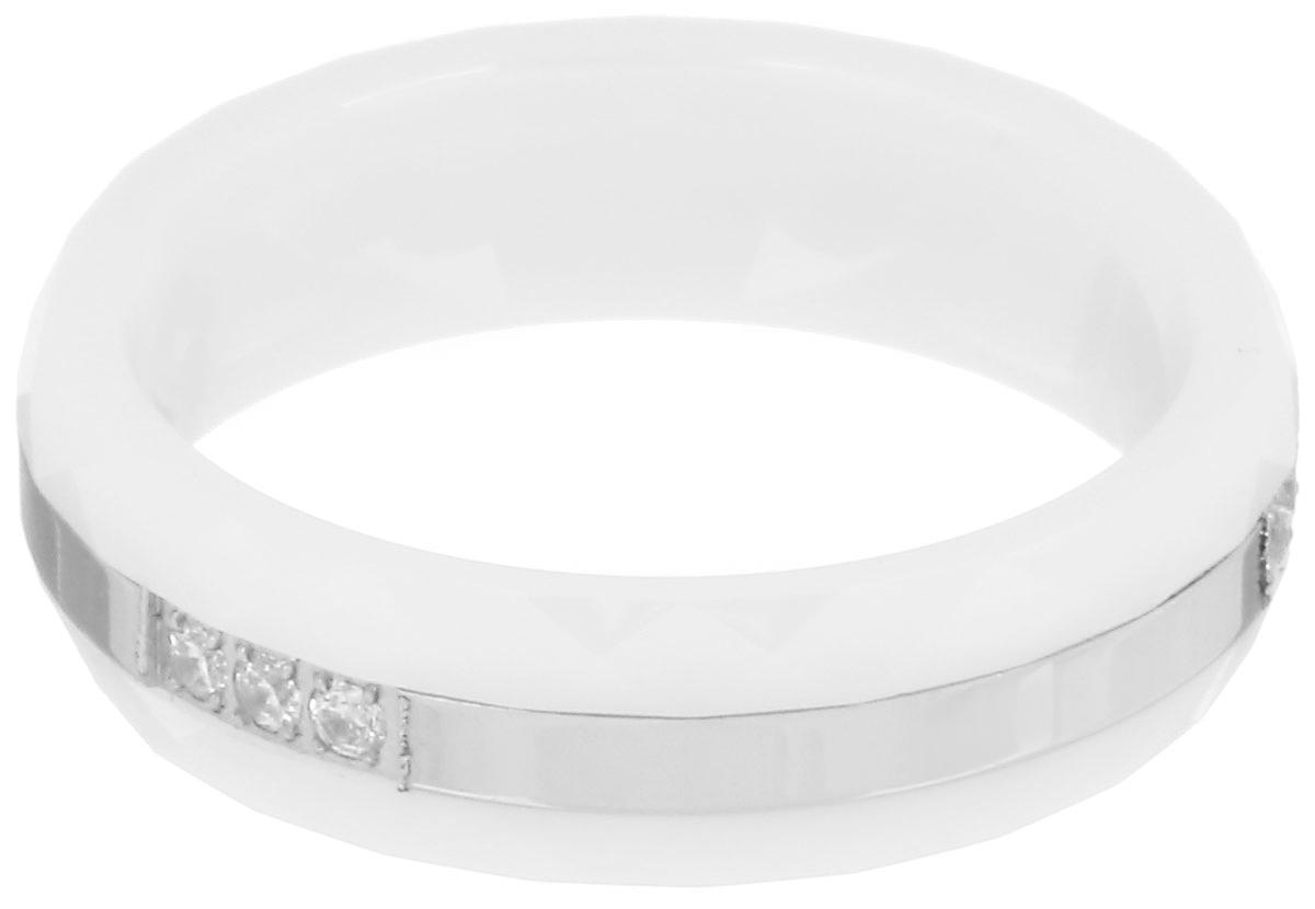 Кольцо Art-Silver, цвет: белый, серебристый. КБ2077-733. Размер 18КБ2077-733Стильное кольцо Art-Silver изготовлено из керамики. Изделие дополнено вставкой из стали и оформлено цирконами. Стильное кольцо придаст вашему образу изюминку и подчеркнет индивидуальность.