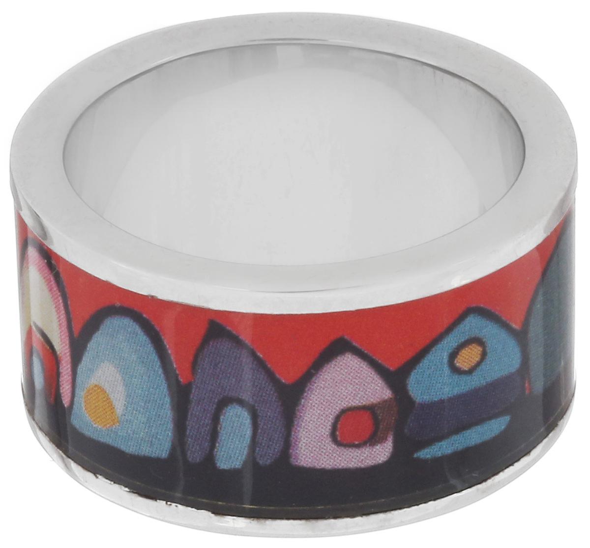 Кольцо Art-Silver, цвет: серебристый, красный, мультиколор. ФК107-1-320. Размер 16,5ФК107-1-320Великолепное кольцо Art-Silver изготовлено из бижутерного сплава. Изделие с покрытием из эмали оформлено изображением забавных домиков. Стильное кольцо придаст вашему образу изюминку и подчеркнет индивидуальность.