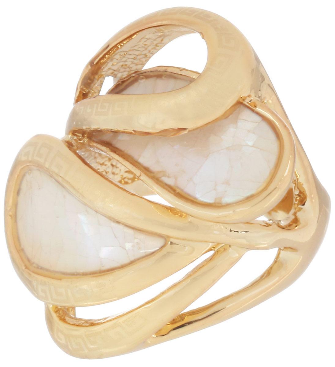 Кольцо Art-Silver, цвет: золотистый. 014638-300. Размер 16014638-300Стильное кольцо Art-Silver изготовлено из бижутерного сплава с золотистым покрытием. Изделие оформлено оригинальным орнаментом и дополнено вставками из перламутра. Стильное кольцо придаст вашему образу изюминку и подчеркнет индивидуальность.