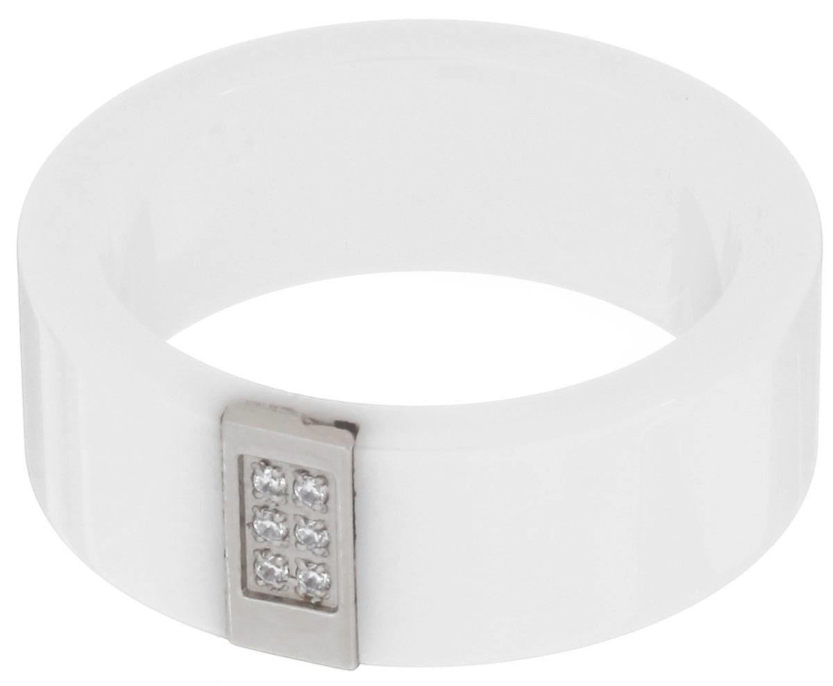 Кольцо Art-Silver, цвет: белый. КБ1102-674. Размер 18КБ1102-674Стильное кольцо Art-Silver изготовлено из керамики. Изделие оформлено цирконами. Стильное кольцо придаст вашему образу изюминку и подчеркнет индивидуальность.