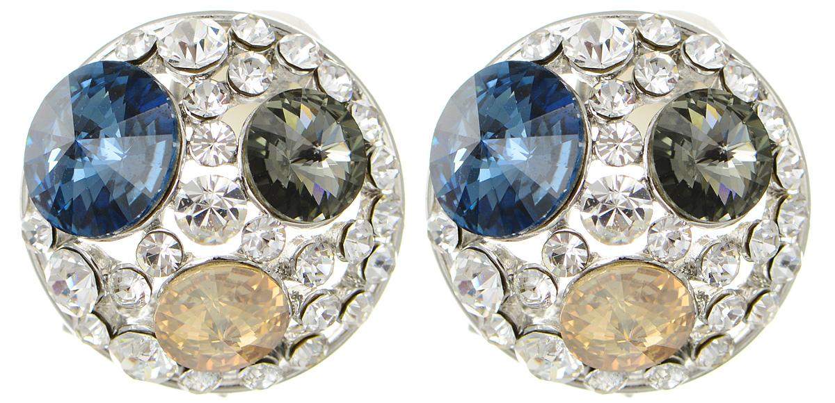 Серьги Art-Silver, цвет: серебристый. 27957-2-71827957-2-718Оригинальные серьги Art-Silver, изготовлены из бижутерного сплава. Изделие имеет округлую форму и украшено разноцветными кристаллами и кубическим цирконием. В качестве основы изделия использован замок-омега. Стильные серьги придадут вашему образу изюминку, подчеркнут красоту и изящество вечернего платья или преобразят повседневный наряд.