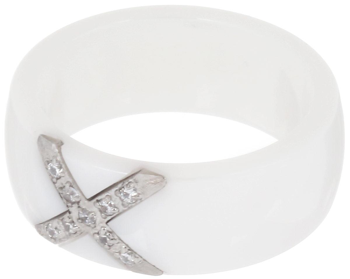 Кольцо Art-Silver, цвет: белый. КБ2023-733. Размер 17КБ2023-733Стильное кольцо Art-Silver изготовлено из керамики. Изделие оформлено цирконами. Стильное кольцо придаст вашему образу изюминку и подчеркнет индивидуальность.