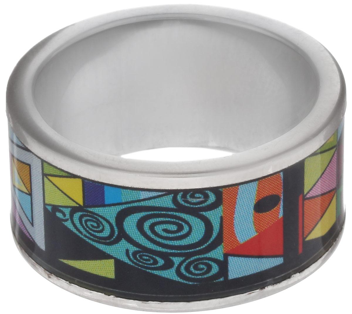 Кольцо Art-Silver, цвет: серебристый, черный, голубой. ФК127-1-320. Размер 18,5ФК127-1-320Стильное кольцо Art-Silver изготовлено из бижутерного сплава. Изделие оформлено оригинальным принтом и покрыто эмалью. Стильное кольцо придаст вашему образу изюминку и подчеркнет индивидуальность.