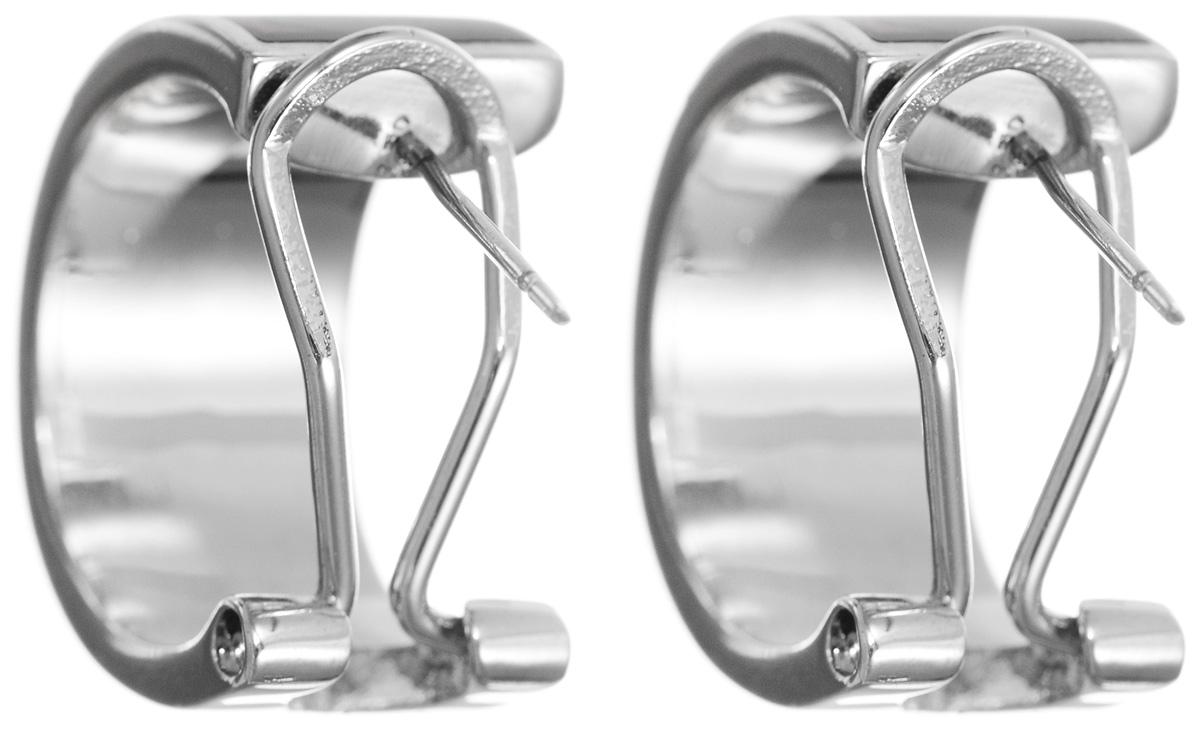Серьги Art-Silver, цвет: серебристый, зеленый, фиолетовый. ФС 123-420