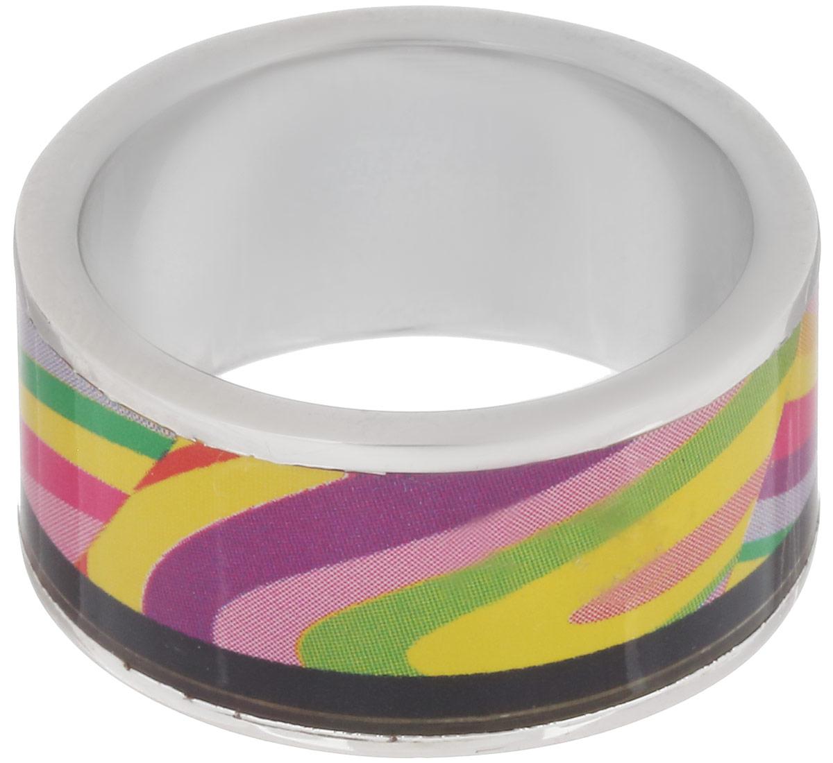 Кольцо Art-Silver, цвет: серебристый, мультиколор. ФК126-1-320. Размер 18,5ФК126-1-320Стильное кольцо Art-Silver изготовлено из бижутерного сплава. Изделие оформлено оригинальным принтом и покрыто эмалью. Стильное кольцо придаст вашему образу изюминку и подчеркнет индивидуальность.