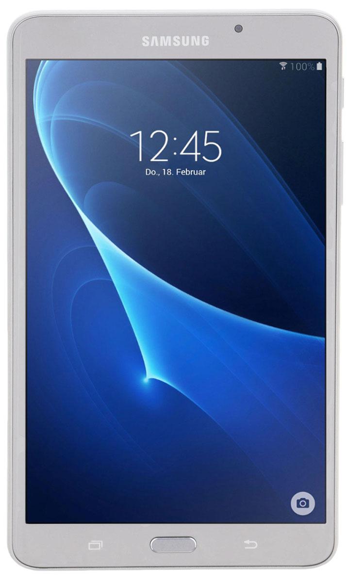 Samsung Galaxy Tab A6 SM-T280, SilverSM-T280NZSASERПланшетный компьютер Samsung Galaxy Tab A6 привлекает своей компактностью в сочетании с производительностью. В тонком корпусе с классическим дизайном уместилась достойная начинка: четырехъядерный процессор с тактовой частотой 1,3 ГГц и 1,5 ГБ оперативной памяти. За качественное изображение отвечает яркий и сочный 7- дюймовый экран с разрешением 1200x800. Удобный размер планшета позволяет использовать его с одинаковым комфортом и для чтения книг, и для интернет-серфинга, и для развлечений. Точная автофокусировка помогает основной камере 5 Мпикс справиться со съемкой движущихся предметов и получить четкий снимок. Фронтальная камера 2 Мпикс придет на помощь, если нужно сделать автопортрет. Данная модель одинаково подходит как для взрослых, так и для детей. Встроенный таймер ограничивает время, проведенное ребенком за планшетом, а разнообразный увлекательный и образовательный контент поможет малышу провести время с пользой. ...