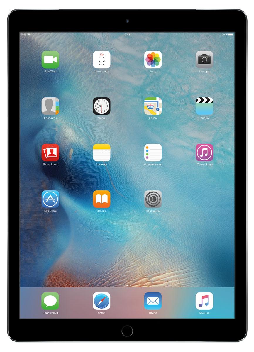 Apple iPad Pro Wi-Fi + Cellular 256GB, Space GrayML2L2RU/AС Apple iPad Pro мир ваших увлечений станет ещё обширнее. Он оснащён потрясающим 12,9-дюймовым дисплеем Retina и улучшенной технологией Multi-Touch, а его производительность почти в два раза превосходит iPad Air 2. Новый iPad Pro не просто больше - с ним вы получите возможность работать и творить в совершенно иных масштабах. Дисплей Retina с диагональю 12,9 на iPad Pro - самый совершенный из всех. Он на 78% больше, чем у iPad Air 2, а под его стеклом уместились обновлённая подсистема Multi-Touch и самое высокое разрешение среди всех устройств iOS - 5,6 миллиона пикселей. Его потрясающая чёткость и впечатляющие цвета, включая насыщенный чёрный, делают любое занятие, от обработки фотографий до игр со сложной графикой, невероятно увлекательным. В корпус данной модели встроено четыре передовых динамика, которые обеспечивают живой и объёмный звук. И впервые отсеки для них вырезаны прямо в корпусе unibody. Благодаря новой архитектуре динамики получили ...