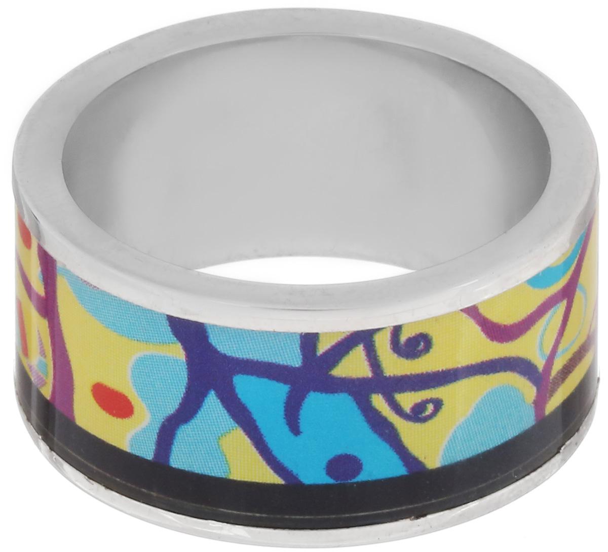 Кольцо Art-Silver, цвет: серебристый, мультиколор. ФК111-1-320. Размер 18,5ФК111-1-320Великолепное кольцо Art-Silver изготовлено из бижутерного сплава. Изделие с покрытием из эмали оформлено принтом в виде оригинального орнамента. Стильное кольцо придаст вашему образу изюминку и подчеркнет индивидуальность.