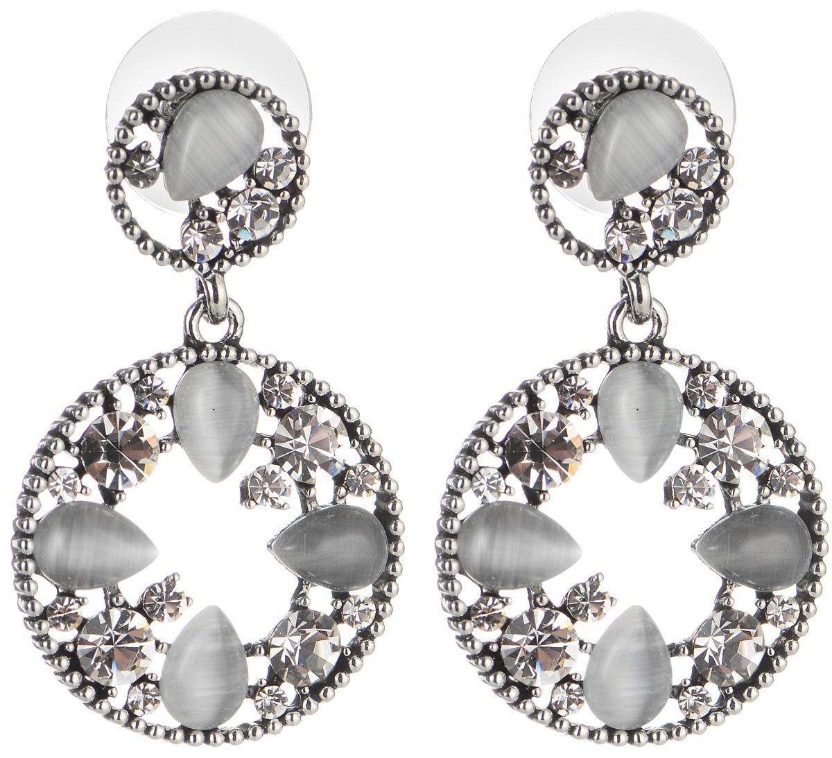 Серьги Art-Silver, цвет: серебряный, серый. 29663-1-75529663-1-755Элегантные серьги Art-Silver, выполненные из бижутерийного сплава, с легкостью завершат ваш образ. Серьги дополнены подвесками, которые инкрустированы цирконами натуральными камнями. В качестве основы украшения использован замок-гвоздик. Серьги современного дизайна придадут вашему образу изюминку, подчеркнут красоту и изящество вечернего платья или преобразят повседневный наряд.