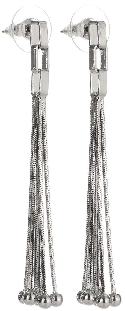 Серьги Art-Silver, цвет: серебряный. 29138-41029138-410Элегантные серьги Art-Silver, выполненные из бижутерийного сплава, с легкостью завершат ваш образ. Серьги дополнены длинными подвижными подвесками. В качестве основы украшения использован замок-гвоздик с заглушками. Серьги современного дизайна придадут вашему образу изюминку, подчеркнут красоту и изящество вечернего платья или преобразят повседневный наряд.