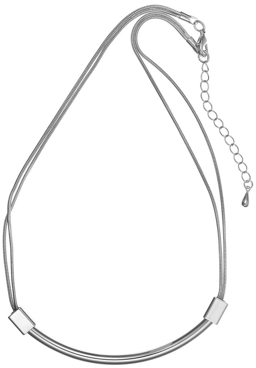 Колье Art-Silver, цвет: серебряный. 12347-47412347-474Стильное колье Art-Silver изготовлено из бижутерийного сплава. Центральная часть колье оформлена декоративным элементом. Украшение застегивается на замок-карабин, длина регулируется за счет дополнительных звеньев. В комплекте с изделием поставляется мешочек для хранения с фирменной символикой. Колье Art-Silver поможет дополнить любой образ и привнести в него завершающий штрих.