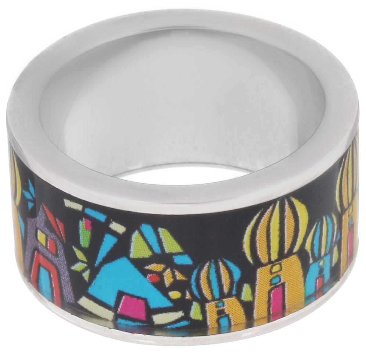 Кольцо Art-Silver, цвет: серебристый, черный, желтый. ФК106-1-320. Размер 17,5ФК106-1-320Стильное кольцо Art-Silver изготовлено из бижутерного сплава. Изделие оформлено оригинальным принтом и покрыто эмалью. Стильное кольцо придаст вашему образу изюминку и подчеркнет индивидуальность.