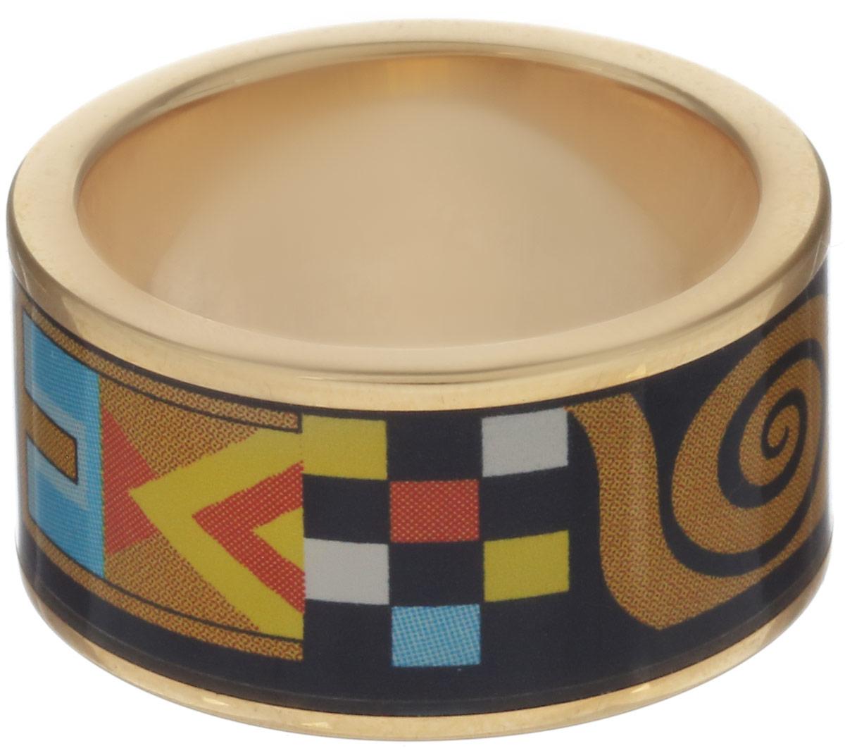 Кольцо Art-Silver, цвет: серебристый, черный, горчичный. ФК110-1-320. Размер 16,5ФК110-1-320Стильное кольцо Art-Silver изготовлено из бижутерного сплава. Изделие оформлено оригинальным принтом и покрыто эмалью. Стильное кольцо придаст вашему образу изюминку и подчеркнет индивидуальность.