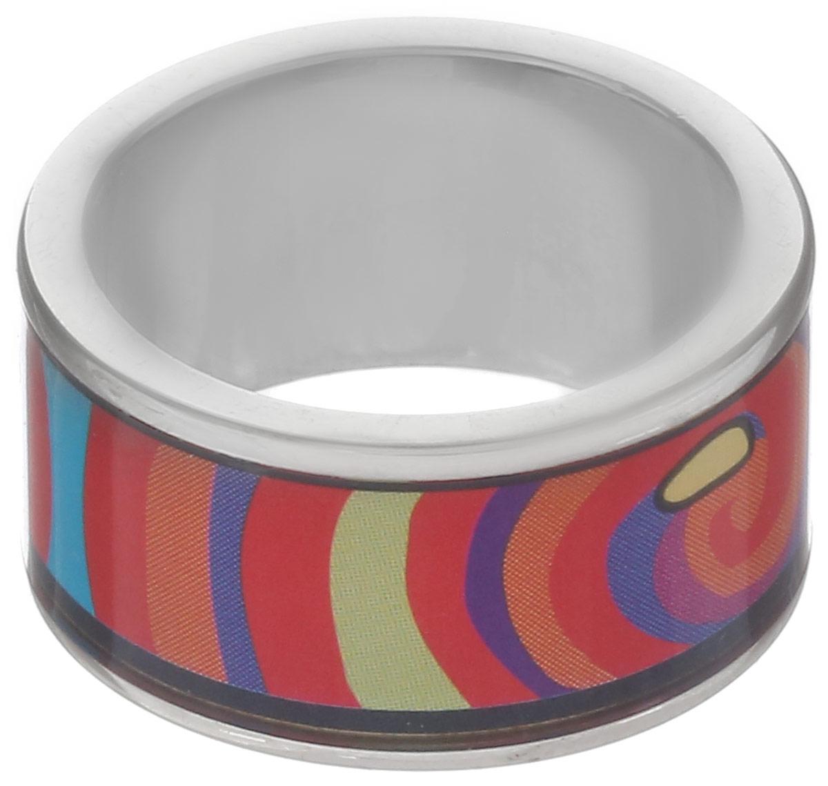 Кольцо Art-Silver, цвет: серебристый, красный, синий. ФК115-1-320. Размер 18,5ФК115-1-320Стильное кольцо Art-Silver изготовлено из бижутерного сплава. Изделие оформлено оригинальным принтом и покрыто эмалью. Стильное кольцо придаст вашему образу изюминку и подчеркнет индивидуальность.