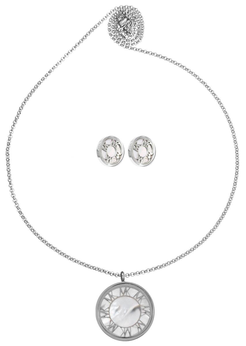 Комплект Art-Silver: колье, серьги, цвет: серебряный. СТ1910-733