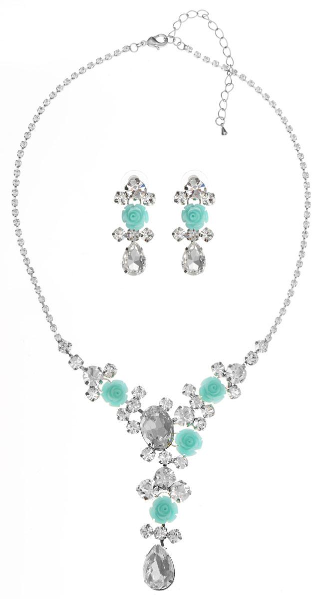 Комплект Art-Silver: колье, серьги, цвет: серебряный. 91101307653601-1377