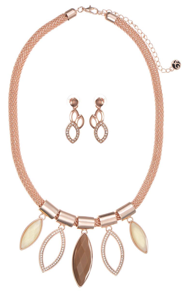 Комплект Art-Silver: колье, серьги, цвет: золотой. M002429-002-2823