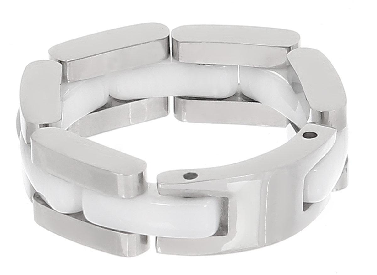 Кольцо Art-Silver, цвет: серебряный, белый. STS072-540. Размер 18STS072-540Кольцо современного дизайна Art-Silver изготовлено из керамики и стали. Изделие имеет подвижную конструкцию. Стильное кольцо придаст вашему образу изюминку и подчеркнет индивидуальность.