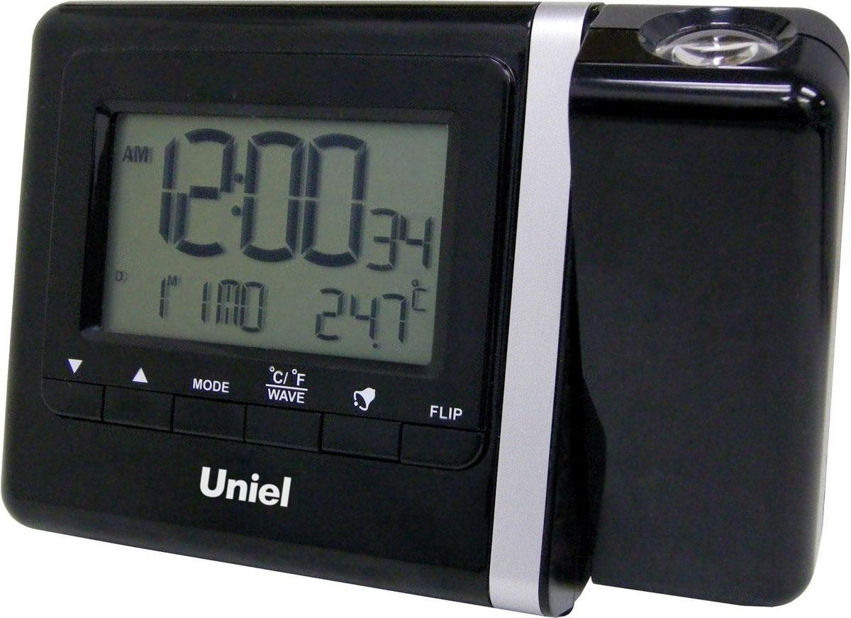 Uniel UTP-80 проекционные часыUTP-80Уникальные многофункциональные часы Uniel UTP-80 оснащены режимом путешествие, что позволяет настраивать время других часовых поясов. Кроме этого, они имеют функцию проецирования времени. Вы можете установить направление проекции в пределах 180°. А еще часы имеют 2 будильника с повторяющимся сигналом и показывают температуру в помещении, а дисплей оборудован яркой подсветкой. Столько функций в миниатюрном корпусе! Стильный эргономичный дизайн Компактные размеры конструкции Часы с прожектором Прожектор красного цвета с подстройкой фокуса и вращением на 180° Календарь 12/24 формат времени 5 языков для дней недели Высокое качество и комфорт в управлении
