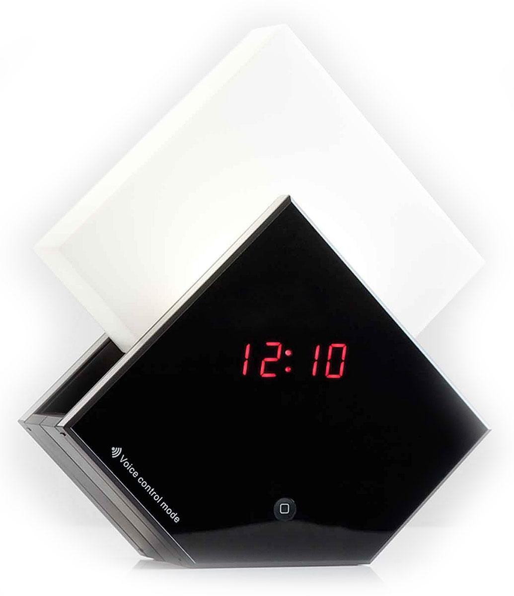 Uniel UTV-70 часы-будильникUTV-70Многофункциональные электронные часы Uniel UTV-70 Симфония рассвета рекомендуются к использованию дома и в офисах. Эта модель безусловно будет удачным украшением любого интерьера. Отличительной особенностью данных часов является светильник, включающийся и выдвигающийся при срабатывании будильника или при нажатии на соответствующую тактильную панель Touch. А включение звуков природы можно задать и просто так в любое время в диапазоне от 10 до 60 минут. Пять различных звуков природы Индикация времени, температуры и даты Будильник с функцией Snooze Источник света — светодиоды Сенсорное управление Голосовое управление Напряжение: 230В Частота: 50 ГЦ Срок службы светодиодов: до 50000 ч