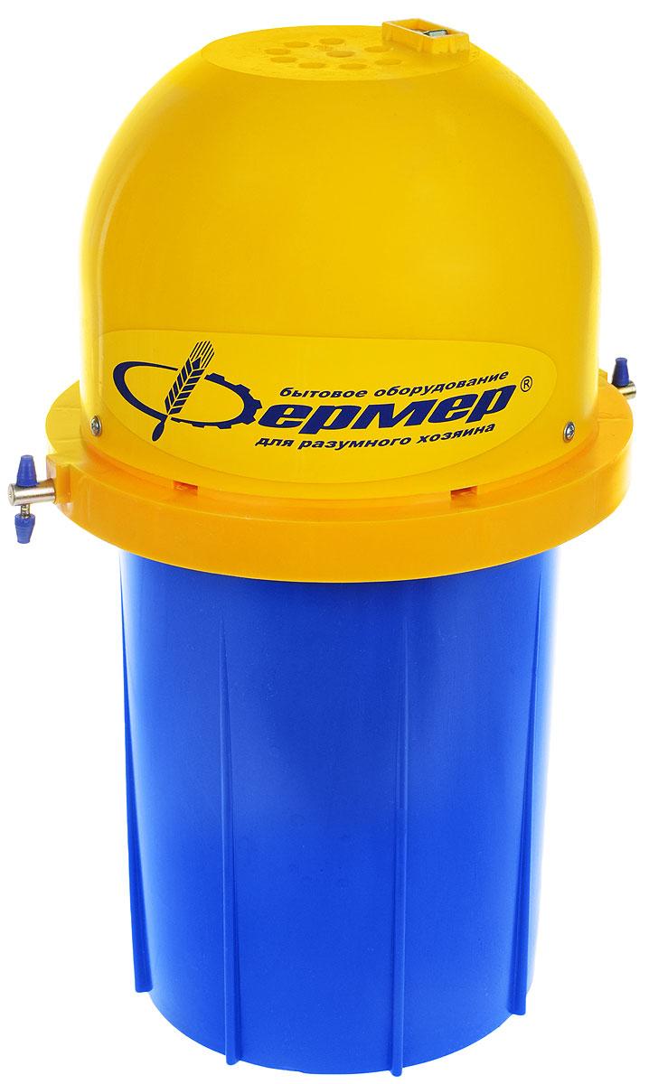 Фермер МБ-01, Blue Yellow маслобойка электрическаяФермер МБ-01Маслобойка Фермер МБ-01 разработана для изготовления масла, взбивания различных коктейлей и замешивания жидкого теста в домашних условиях. За один рабочий цикл, который составляет 10-15 минут, маслобойка перерабатывает до 6 литров сливок. Маслобойка комплектуется асинхронным электродвигателем с частотой вращения ротора 1380 об/мин., оснащённым защитой от перегрева. Крыльчатка, вращаясь с такой скоростью, заставляет продукт перемещаться по кругу и от центра, постепенно сбивая сливки в масло. Максимальное количество сливок в одном производственном цикле составляет 6 литров. У через 10-15 минут вы получите готовый к употреблению высококачественный продукт. Маслобойка сделана из современных безопасных сертифицированных материалов, проста в эксплуатации и надежна. Выход масла от объема исходного продукта: 40%