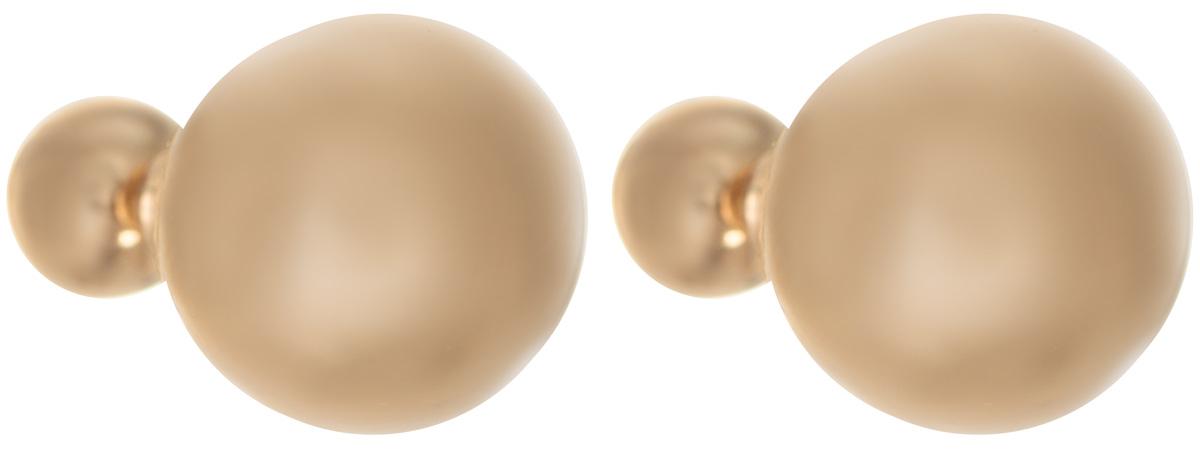 Серьги-шары Art-Silver, цвет: золотой. G29482-3-405G29482-3-405Оригинальные серьги-шары Art-Silver изготовлены из бижутерного сплава с покрытием под золото. Изделие представляет собой серьги-пуссеты (гвоздики) круглой формы, выполненные из пластика. Стильные серьги придадут вашему образу изюминку, подчеркнут красоту и изящество вечернего платья или преобразят повседневный наряд.