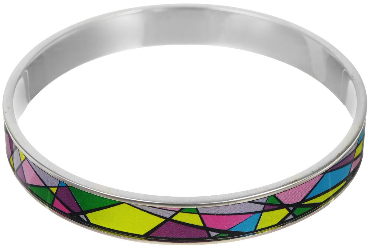 Браслет Art-Silver, цвет: серебристый, мультиколор. ФБм126-1-320ФБм126-1-320Браслет Art-Silver изготовлен из бижутерного сплава. Изделие на лицевой стороне покрыто эмалью с ярким неповторимым орнаментом. Красивое и необычное украшение блестяще подчеркнет изысканный вкус, женственность и красоту своей обладательницы и поможет внести разнообразие в привычный образ.