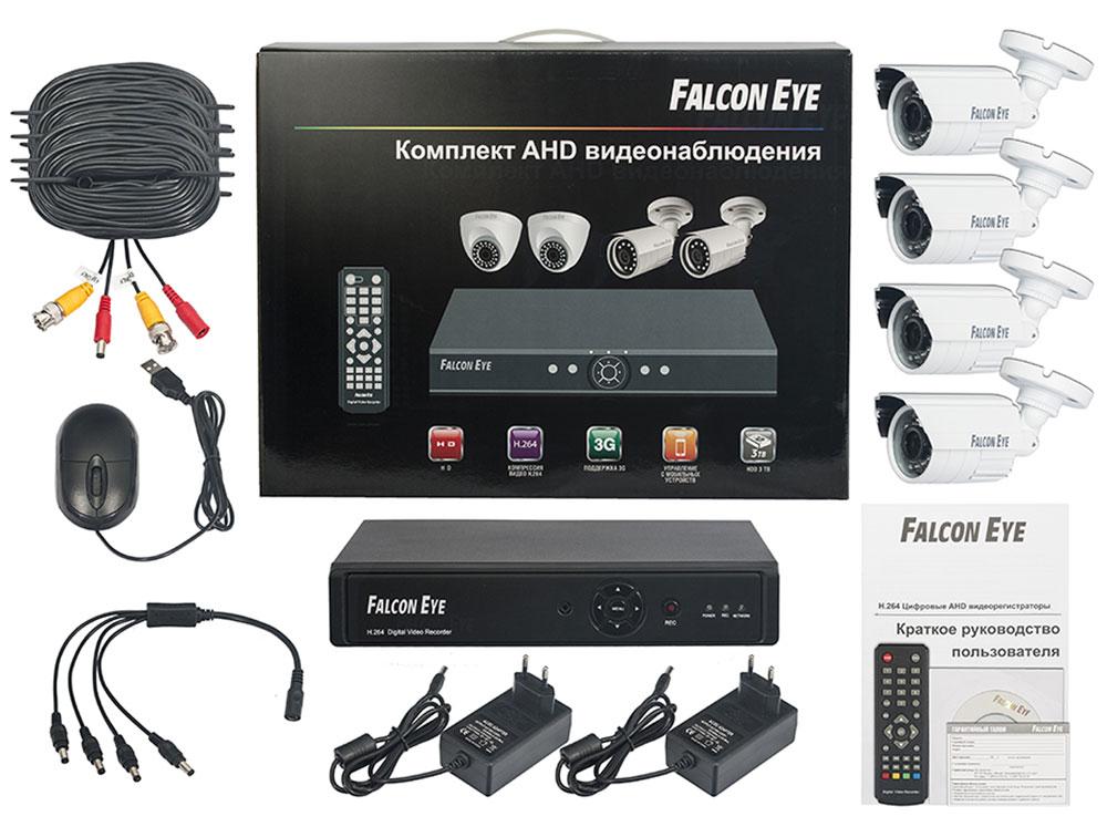 Falcon Eye FE-104AHD Kit Дача комплект видеонаблюденияFE-104AHD-KIT ДАЧАFalcon Eye FE-104AHD Kit Дача - современный комплект видеонаблюдения, представляющий собой набор высококачественного оборудования для самостоятельного построения системы видеонаблюдения. Развернуть и настроить систему сможет даже не обладающий специальными знаниями человек. Технические характеристики комплекта, надежность и функциональность удовлетворяют самым строгим критериям оценки систем безопасности для дома офиса и дачи. Камеры с разрешением 1 Мпикс и сенсором Aptina AR0141 позволят записать сигнал с четкостью, достаточной для детального просмотра, а также для того, чтобы при необходимости использовать видеозапись, как доказательство противоправного действия. В видеорегистраторе воплощены все самые передовые технологии для систем видеонаблюдения: разрешение сигнала VGA/HDMI 1080p, возможность удаленного просмотра видео при помощи облачной технологии P2P на мобильных устройствах различных платформ. Резервное копирование: USB HDD, USB DVD-RW ...