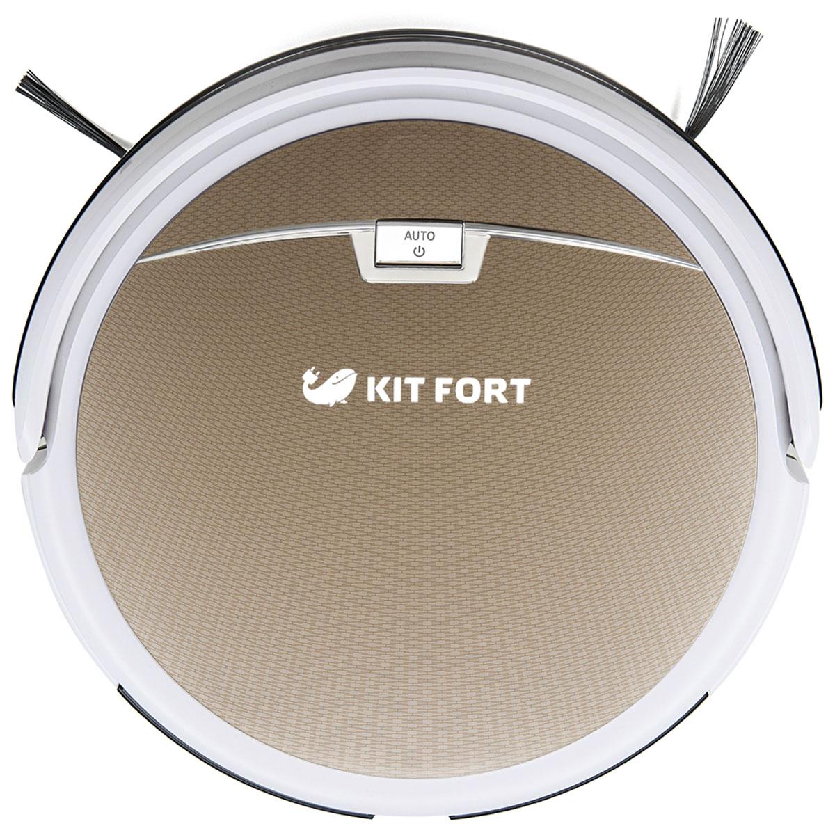 Kitfort KT-519-3, Gold робот-пылесосKT-519-3 золотоВысота Kitfort КТ-519 составляет всего 8 см, благодаря чему он может пройти под большинством шкафов и кроватей. Уменьшенный диаметр корпуса дает возможность протиснуться между близко расположенными препятствиями и убрать больше поверхности пола, чем другие пылесосы. Пылесос оснащен функциями автоматической и ручной уборки, локальной уборки и уборки по расписанию. Кроме того, имеется специальная программа для уборки вдоль стен, когда пылесос перемещается по периметру помещения. Искусственный интеллект пылесоса автоматически выбирает наиболее оптимальную траекторию движения в каждом случае, согласующуюся с выбранной программой. Режимов уборки несколько: по спирали; случайным образом; по периметру помещения; зигзагом. Включить и выключить пылесос, задать нужный режим работы или запрограммировать пылесос можно с панели управления пылесоса или с пульта дистанционного управления. Хотите прийти с работы и обнаружить...