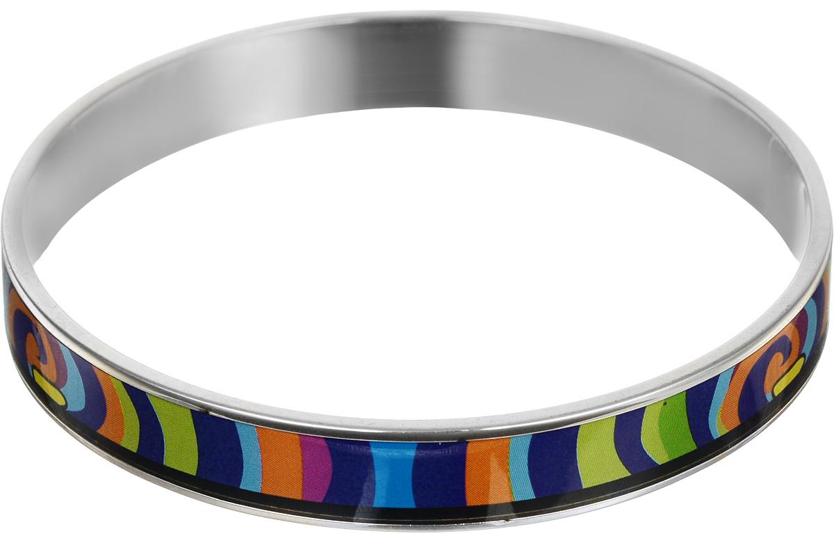 Браслет Art-Silver, цвет: серебряный, мультиколор. ФБм102-320ФБм102-320Браслет Art-Silver изготовлен из бижутерного сплава. Изделие на лицевой стороне покрыто эмалью с ярким неповторимым орнаментом. Красивое и необычное украшение блестяще подчеркнет изысканный вкус, женственность и красоту своей обладательницы и поможет внести разнообразие в привычный образ.