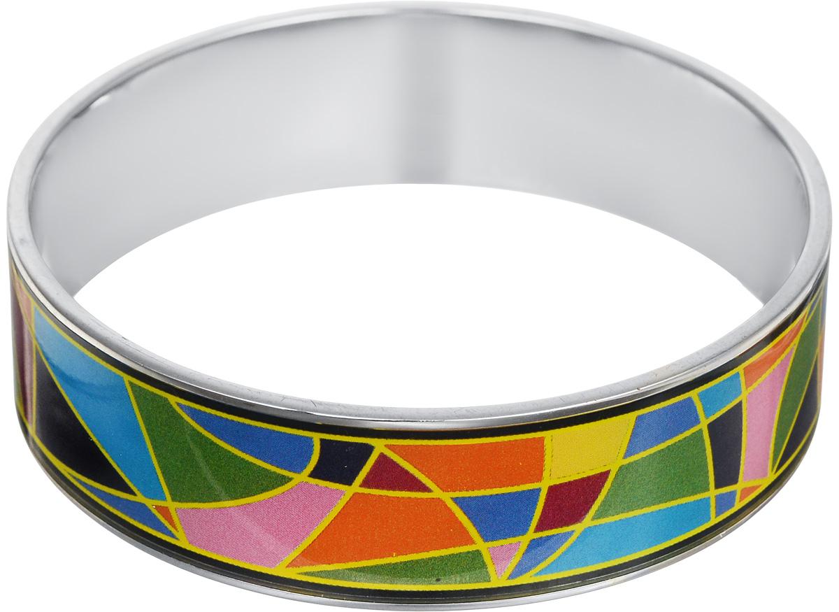 Браслет Art-Silver, цвет: серебряный, мультиколор. ФБб121-1-470ФБб121-1-470Браслет Art-Silver изготовлен из бижутерного сплава. Изделие на лицевой стороне покрыто эмалью с ярким неповторимым орнаментом. Красивое и необычное украшение блестяще подчеркнет изысканный вкус, женственность и красоту своей обладательницы и поможет внести разнообразие в привычный образ.