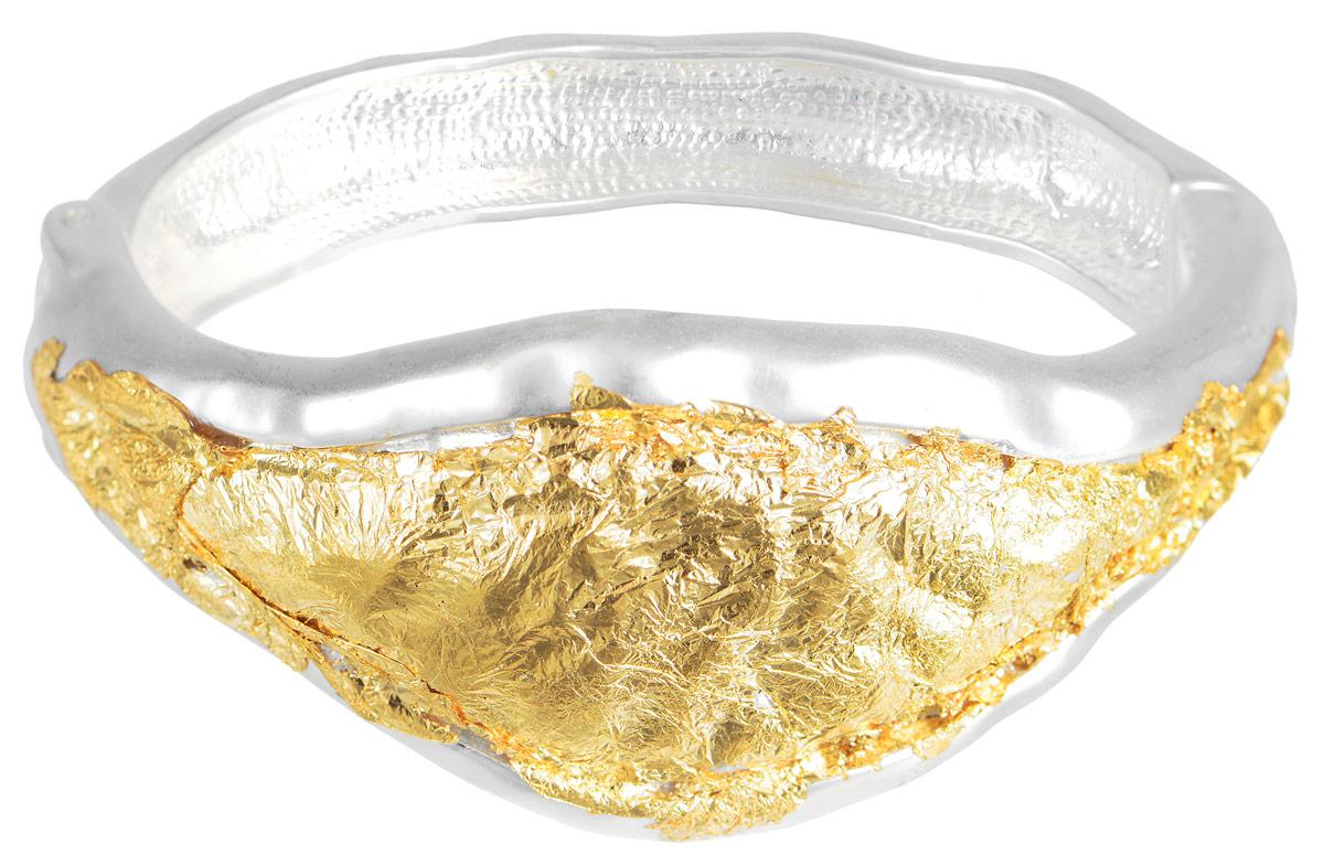 Браслет Art-Silver, цвет: серебристый, золотой. 183711-665183711-665Лаконичный женский браслет выполнен из бижутерного сплава. Браслет на пружине, благодаря которой браслет легко снимать и надевать. Необычный браслет блестяще подчеркнет ваш изысканный вкус и поможет внести разнообразие в привычный образ.