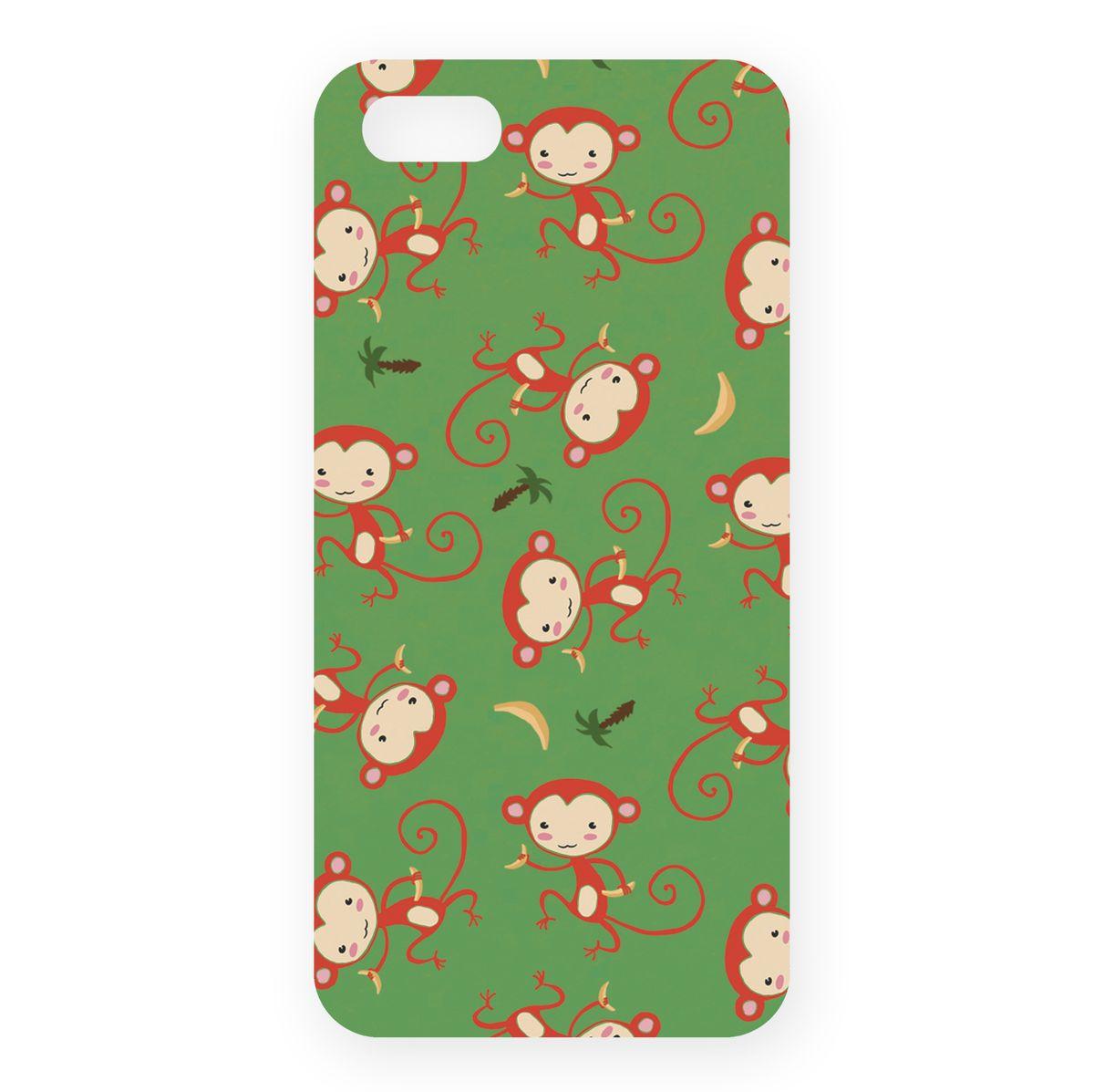 Mitya Veselkov Красные обезьянки на зеленом чехол для Apple iPhone 5/5s